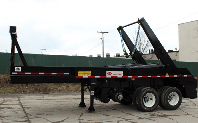 Ace Load Lugger Trailer- Side Profile 50,000 lb. hoist
